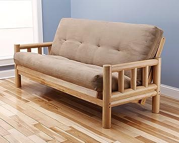 Amazon.com: Lodge futon en acabado de madera natural con ...