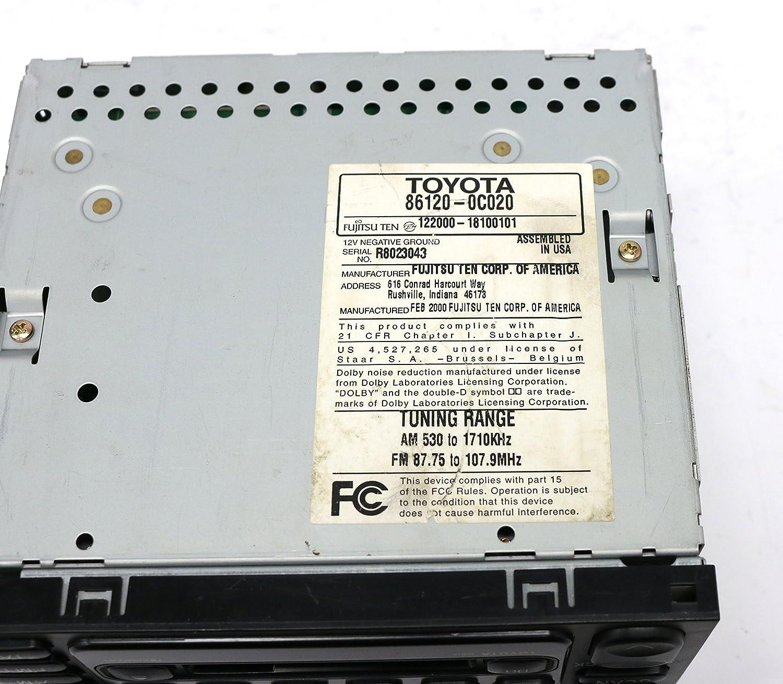 Amazon.com: 1999-2003 Toyota Camry Sequoia AM FM Radio Cass CD ...