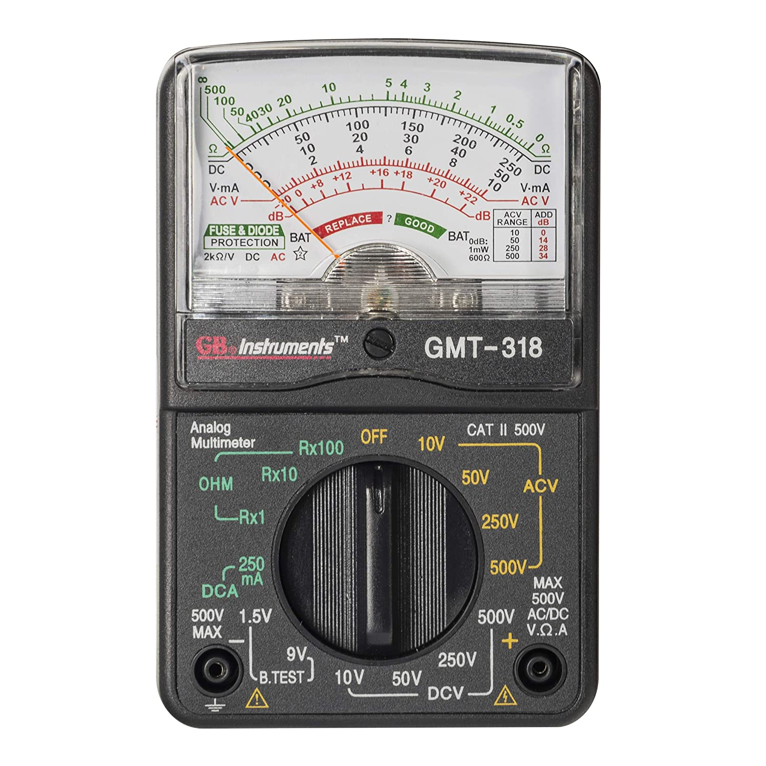 Amazon.com: Gardner Bender GMT-318 Analog Multimeter, 6 Function, 14 Range,  AC / DC Volt: Home Improvement