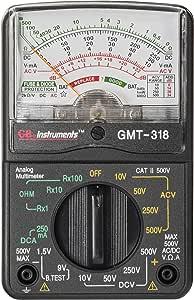 Gardner Bender GMT-318 Analog Multimeter, 6 Function, 14 Range, AC/DC Volt