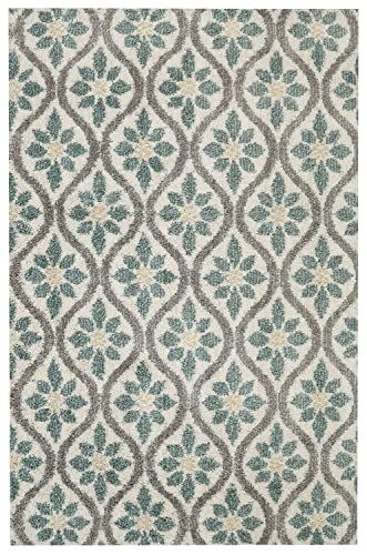 Mohawk Home Laguna Perry Floral Woven Shag Area Rug, 5 x8 , Tan and Green
