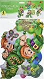 Beistle 33304 4-Pack Packaged Leprechaun Cutouts, 14-Inch