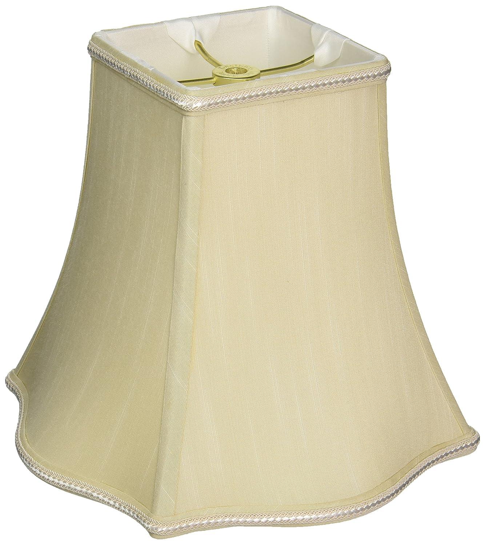 Royal Designs Fancy Square Designer Lamp Shade DS-36-12GR Gray 5.5 x 12 x 10 Inc