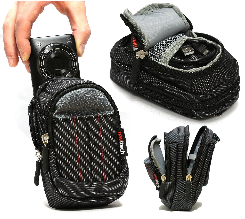 Navitech デジタルカメラケースバッグ ブラック パナソニック Lumix DC-FT7   B07JQ78V5T