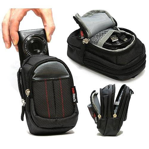 Navitech Black Digital Camera Case Bag For The Olympus Stylus SH-2 / Stylus TG-860 Tough / STYLUS SH-1 / Tough TG-3 / Tough TG-850 iHS / OM-D E-M10