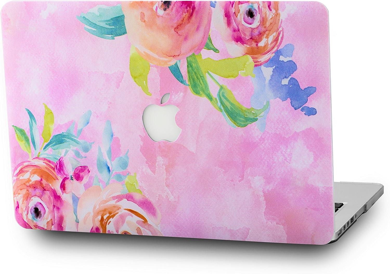 "LuvCaseLaptopCaseforOld MacBook Pro 13"" Retina Display (2015/2014/2013/2012 Release) A1502/A1425RubberizedPlasticHardShellCover (Flower 27)"