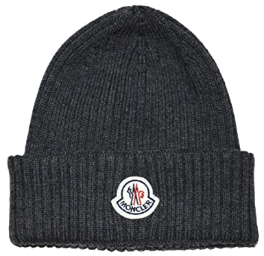 41250794e5c Moncler Wool Hat - Grey  Amazon.co.uk  Clothing