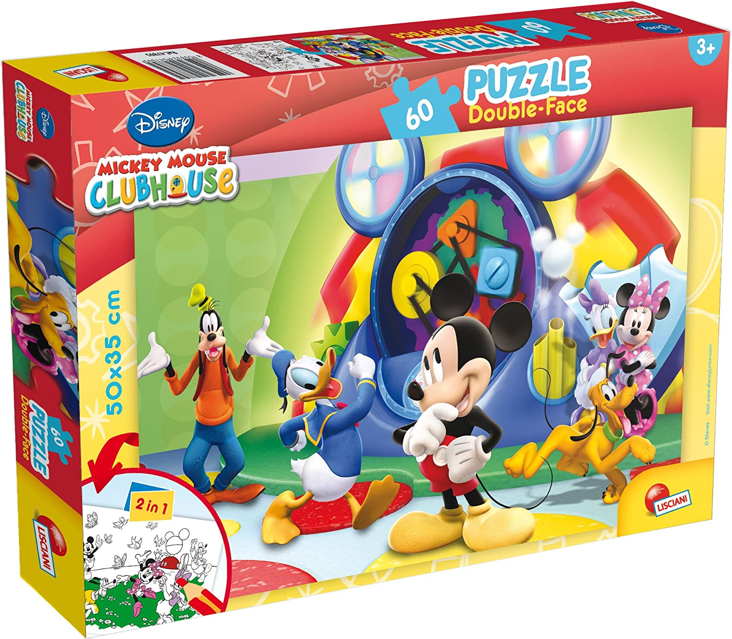 Lisciani- Puzzle, Mickey Mouse (Colorbaby 42660), 47895