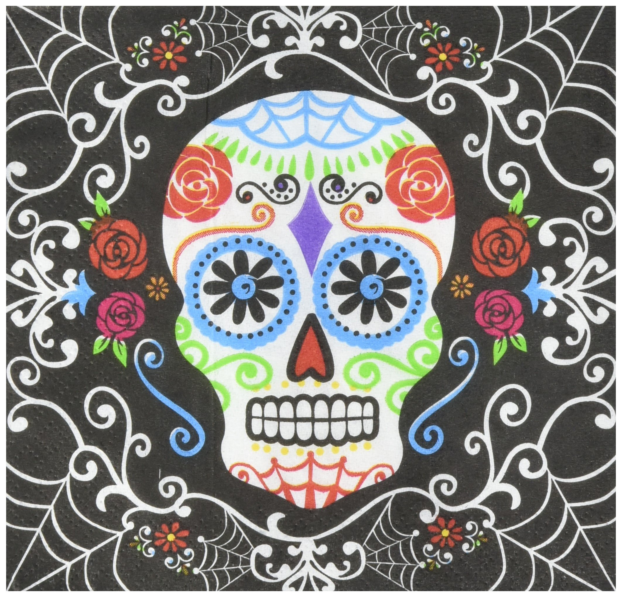 Day of The Dead Beverage Napkins, 432 Ct. by amscan (Image #1)