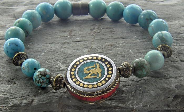 Amazon.com: Health Healing Bracelet, Turquoise Mala Coin ...