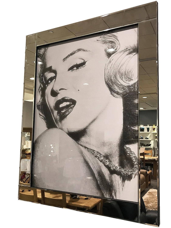Amazon.de: Spiegel Rahmen Marilyn Monroe Pearl Halskette Glitter ...