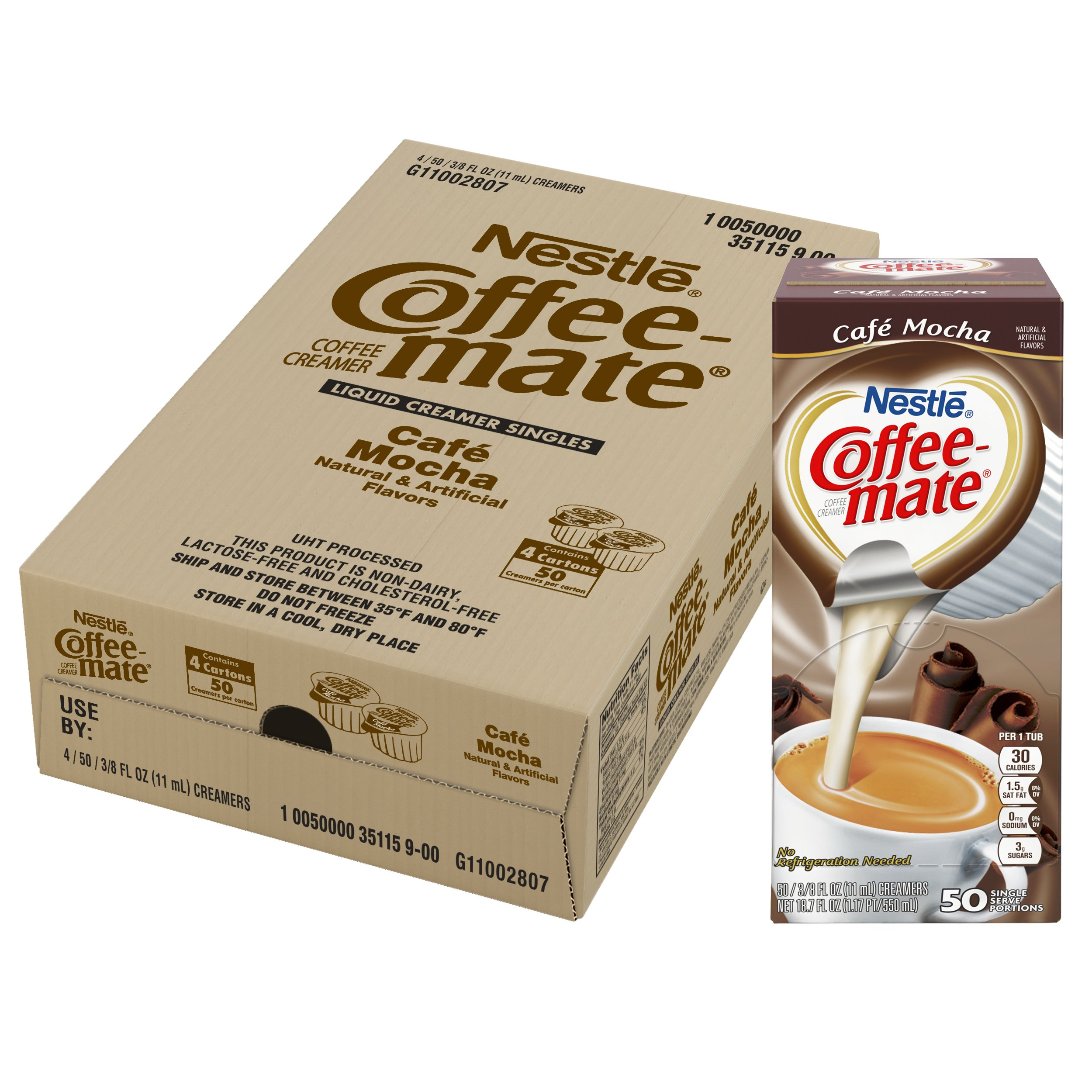 NESTLE COFFEE-MATE Coffee Creamer, Cafe Mocha, liquid creamer singles, 50 Count (Pack of 4) by Nestle Coffee Mate (Image #6)