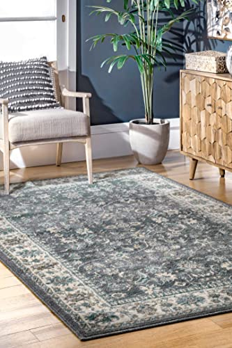 nuLOOM Manor Classic Floral Area Rug, 8 x 10 , Grey