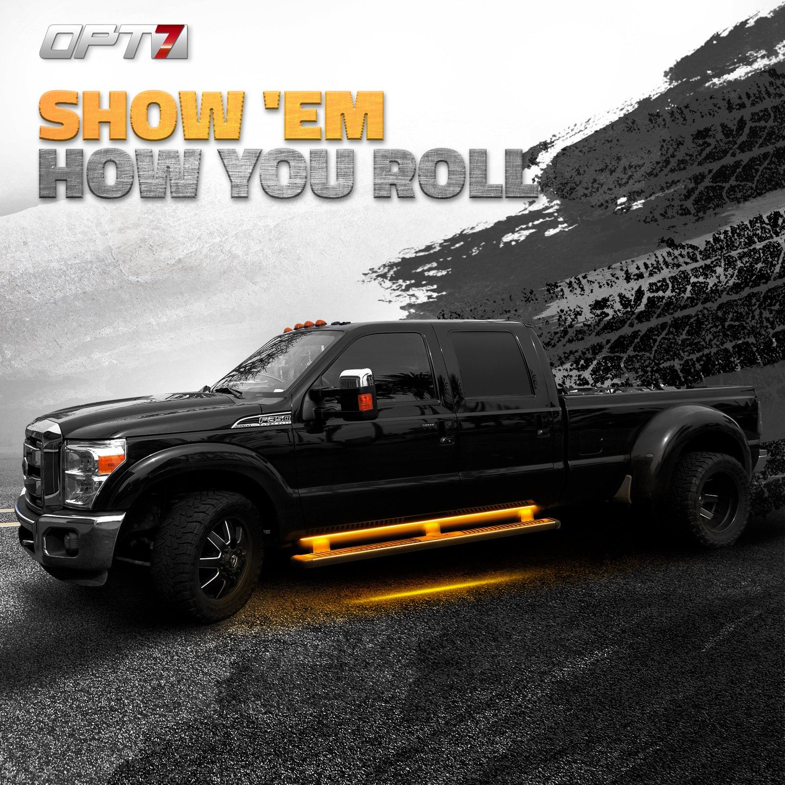 OPT7 2pc 60'' Side Kick Running Board LED Strips w/Amber Turn Signal, DRL, and White Courtesy Lights by OPT7 (Image #2)