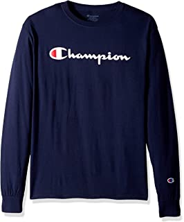 e76b3f2a Amazon.com: Champion Classic Jersey Long Sleeve T-Shirt: Clothing
