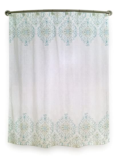 Lenox French Perle Groove Shower Curtain Blue
