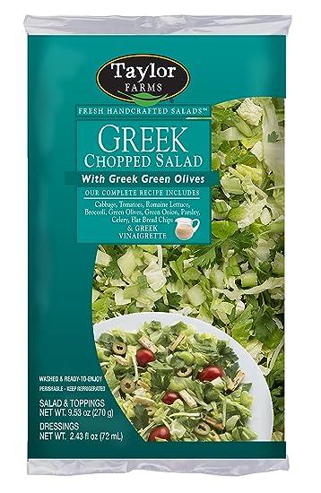 Taylor Farms Greek Chopped Salad, 11.96 oz (us): Amazon.com: Grocery ...