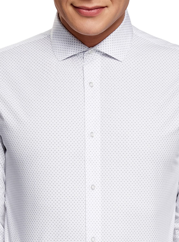oodji Ultra Uomo Camicia Stampata con Maniche Lunghe