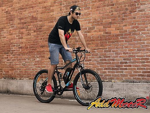 Addmotor HITHOT Bicicleta Eléctrica de Montaña 48V 500W Potencia del Motor 27.5