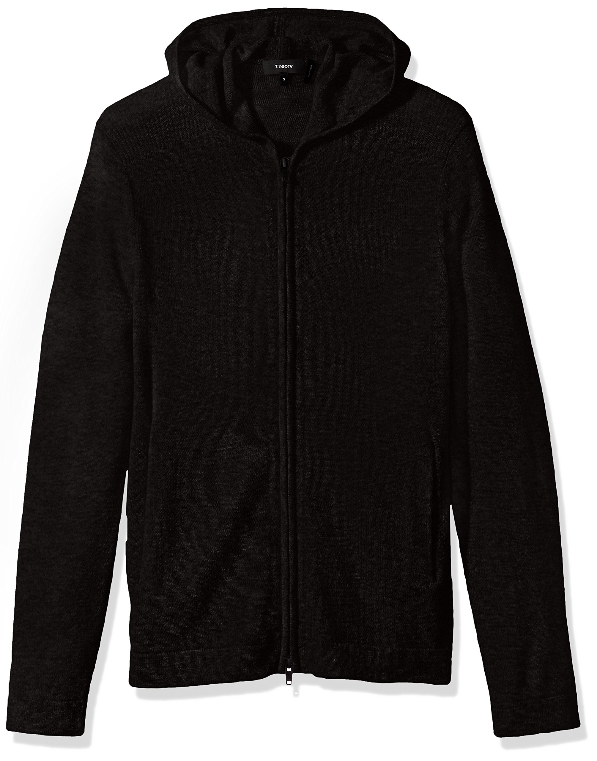 Theory Men's Kamero SD Aires Fzip Hood, Black, Small