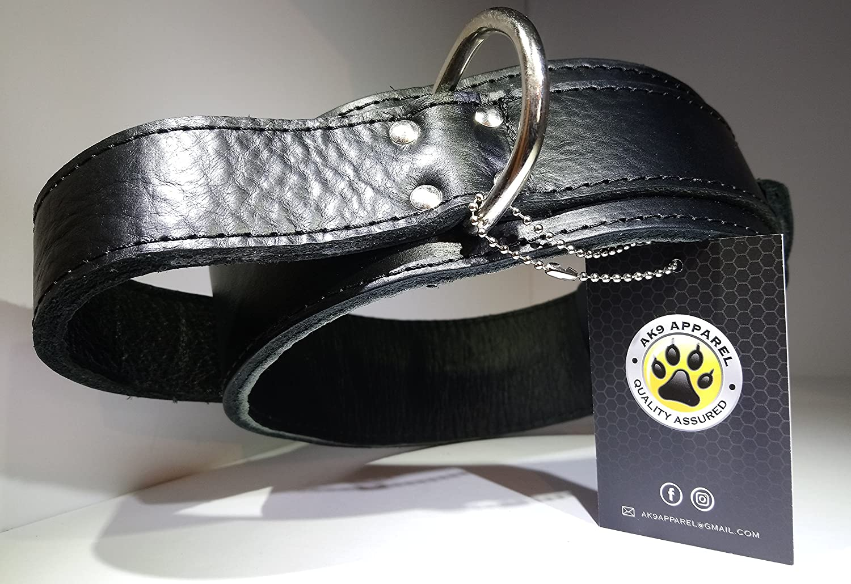 Collare per cani, in pelle nera Medium agitazione training Collar AK9 038