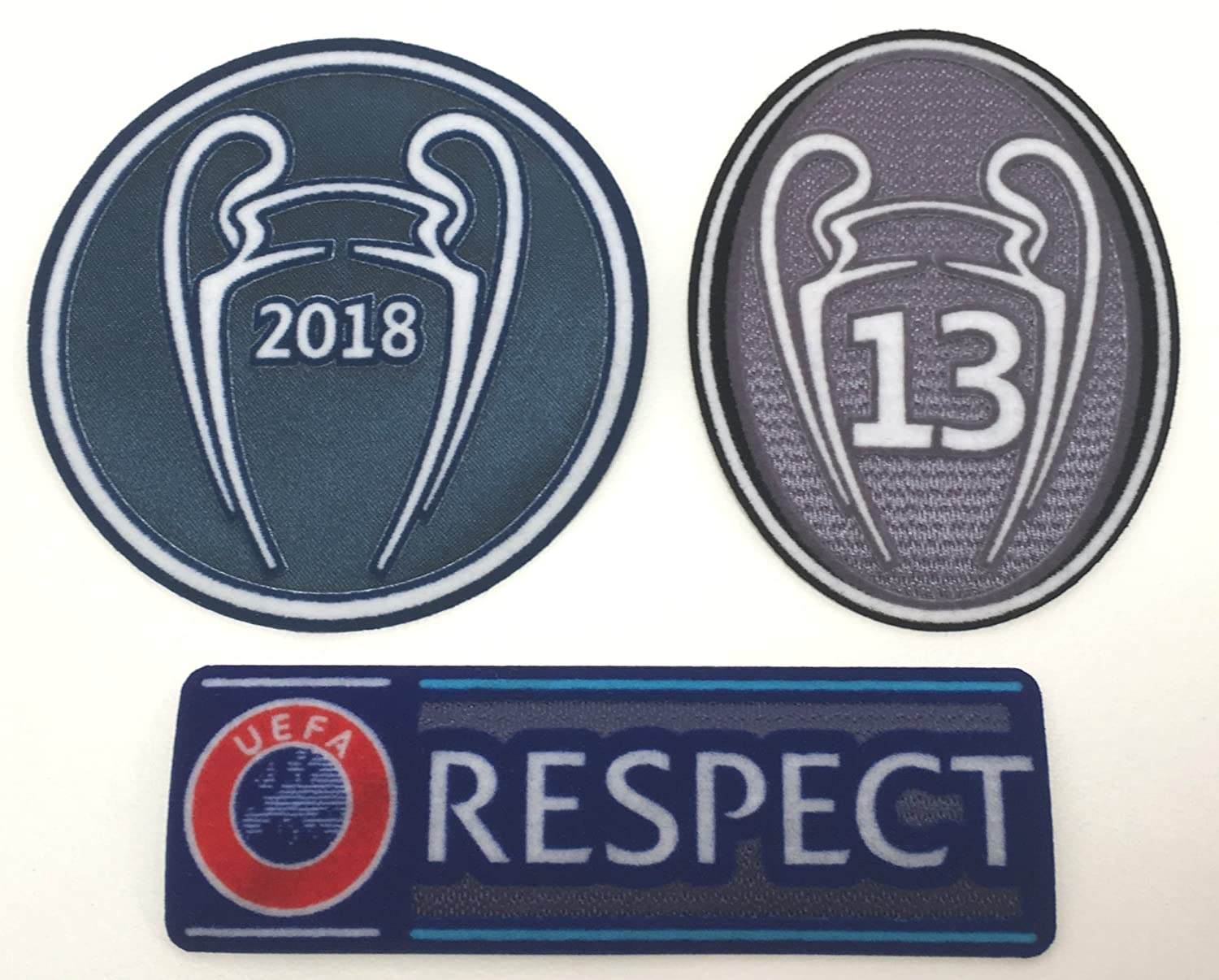 Real Madrid FC Soccer Patch Set 2018 2019 La Tredecima Jersey Badges Football Shirt Patches Champions League Trophy 13 Cup Honor