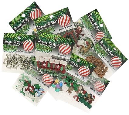 dress it up buttons christmas 12 pack assortment - Christmas Buttons
