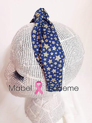 Mabel Diademe diadema turbante niña mujer azul estrellas en ...