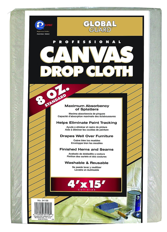Premier 4' x 15' Standard Canvas Drop Cloth 8 oz, 34158