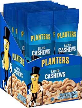 18-Pack Planters Salted Cashews 1.5 oz. Pouches