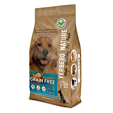 YERBERO Nature Grain Free Puppy Comida para Perros Cachorros Sin Cereales 2.5 kg