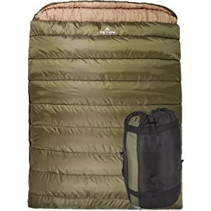 TETON Sports Mammoth Queen Size Sleeping Bag, Compression Sack Included