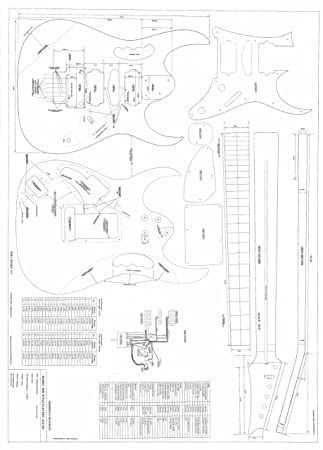 Amazon Com Set Of 2 Guitar Plans
