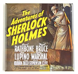 Adventures of Sherlock Holmes Movie Poster Fridge Magnet (3 x 3 inches)