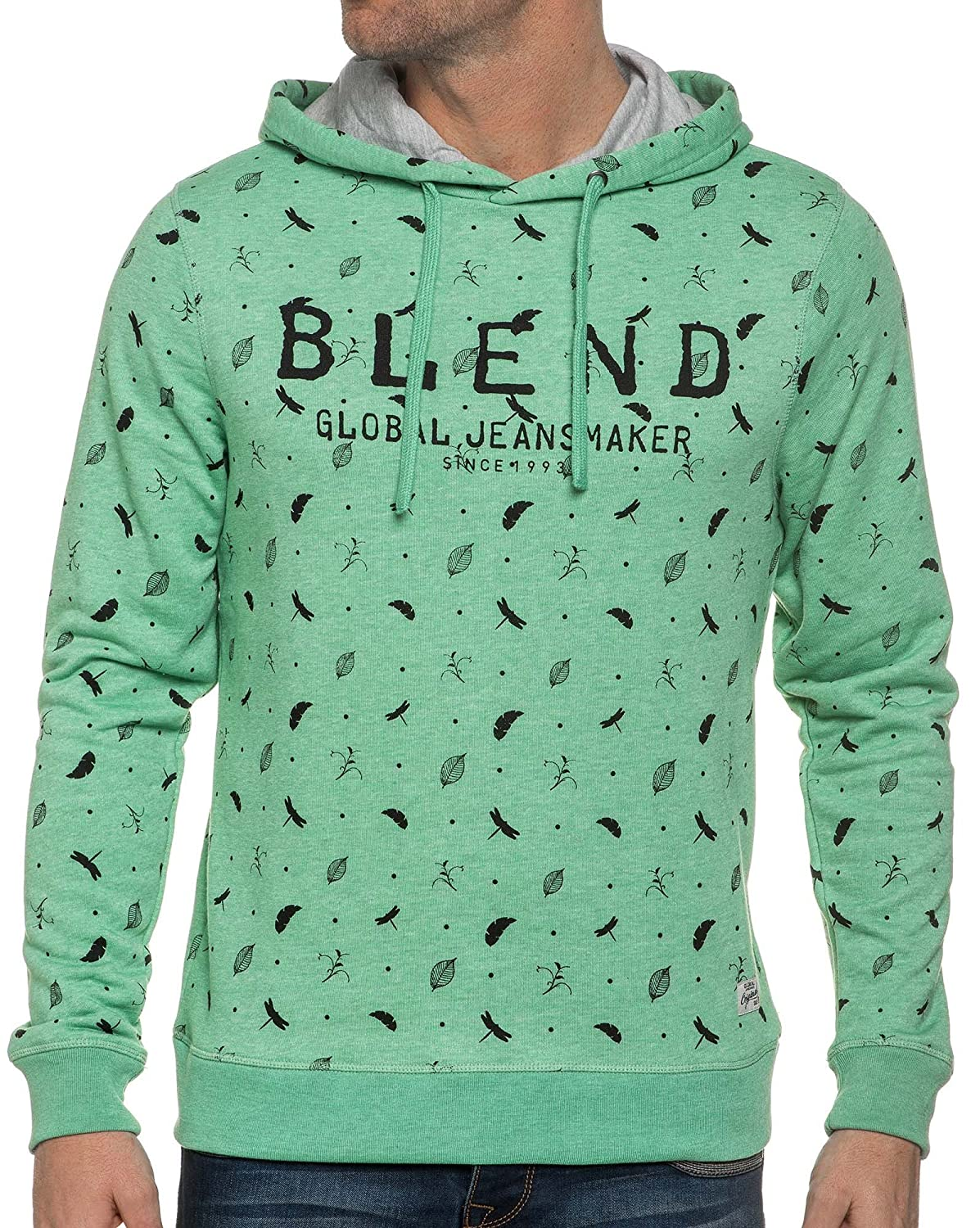 Blend - Sweat Hoodie A Green Washed Appearance