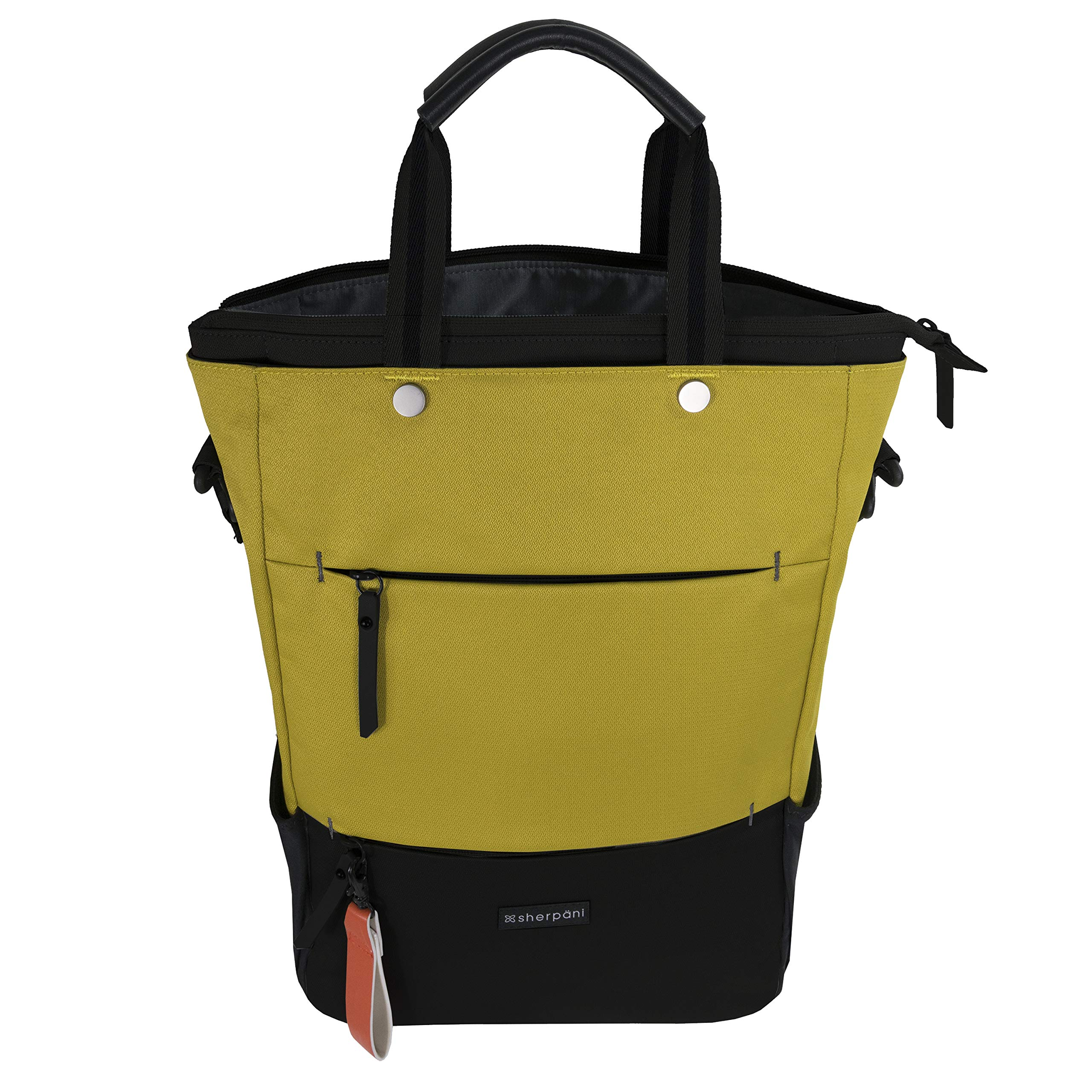 95896fc4b8 Galleon - Sherpani Women's RFID Camden Tote/Backpack/Crossbody Travel,  Saffron, One Size