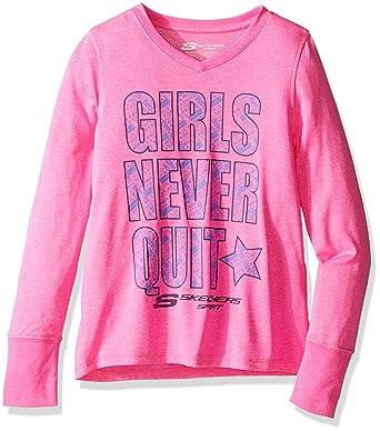 eb75591b01dd77 Skechers Big Girls  Sport Langarm-T-Shirt