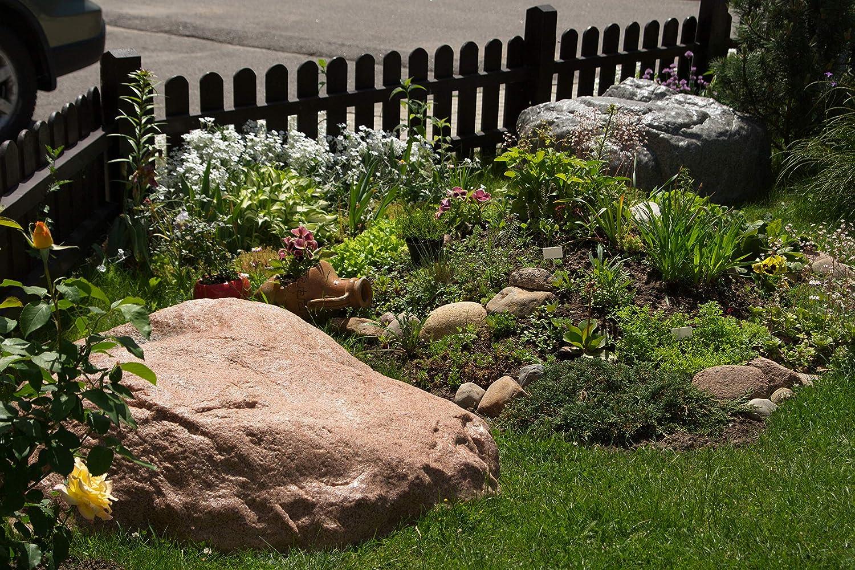 Piedra Decorativa Hueca de Tamaño Grande para el Jardín Exterior, Roca Artificial para el Diseño y Campo de Patio, Oculta Utilidades, Cubre 100 Centímetros XL-01 (Gris): Amazon.es: Jardín