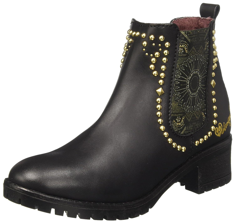 Desigual Shoes_Charly Blackstud, Botas Chelsea para Mujer40 EU|Negro