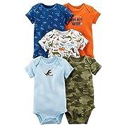 Carter's Carters' Baby Boys 5 Pack Bodysuit Set, Dinomite Dude, 18Months