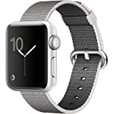 Apple Watch Series 2, 42mm Silver Aluminum Case with Pearl Woven Nylon Band