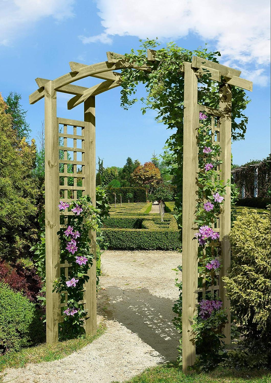 Gartenpirat - Pérgola de entrada (madera, 160x62x220 cm, con celosía para enredaderas): Amazon.es: Jardín