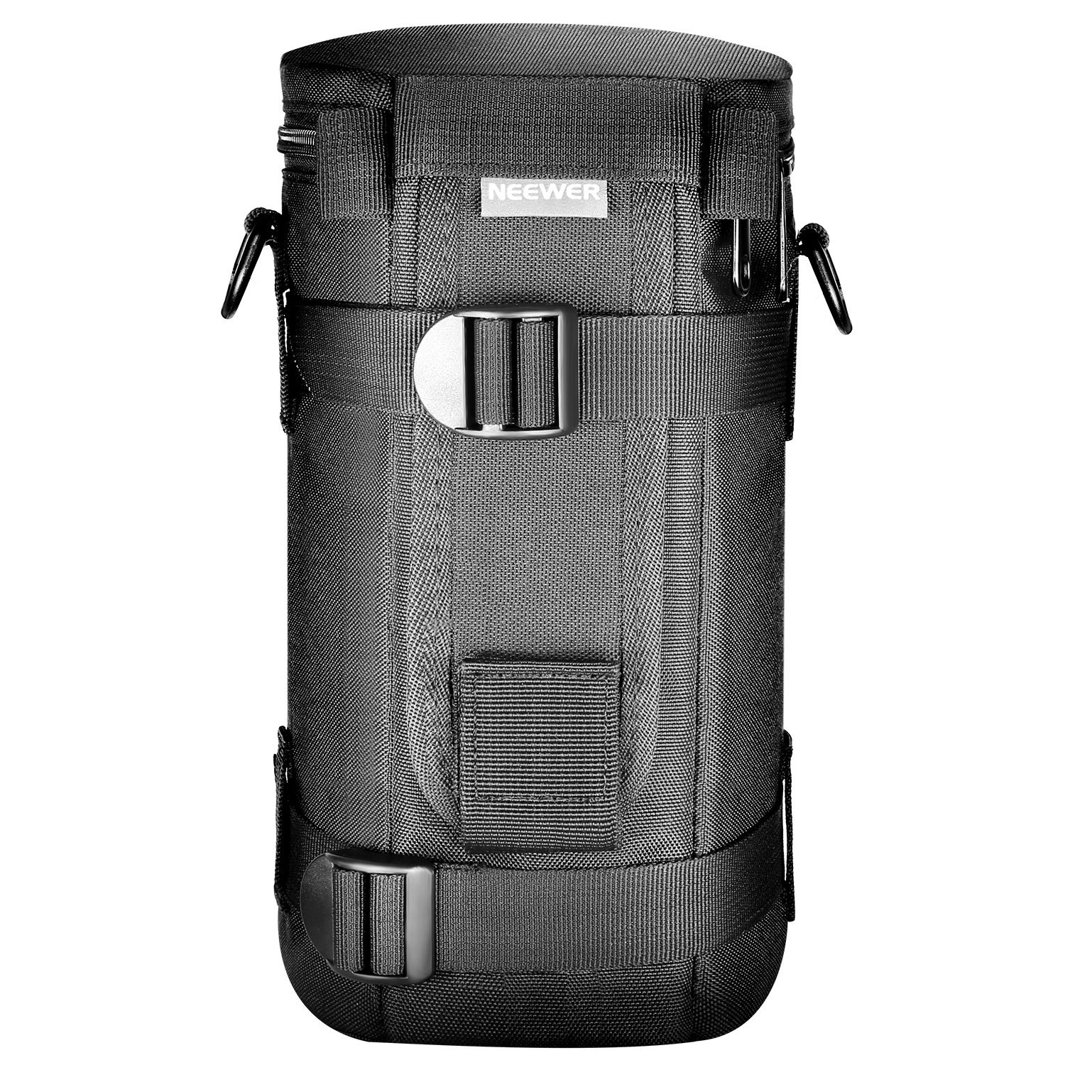 Neewer NW-L2070 Black Padded Water-Resistant Lens Pouch Bag Case with Shoulder Strap for 70-200mm Lens, Such as Canon 70-200/2.8IS, 100-400, 180mm / Nikon 70-200, 80-400, 180-2.8 by Neewer
