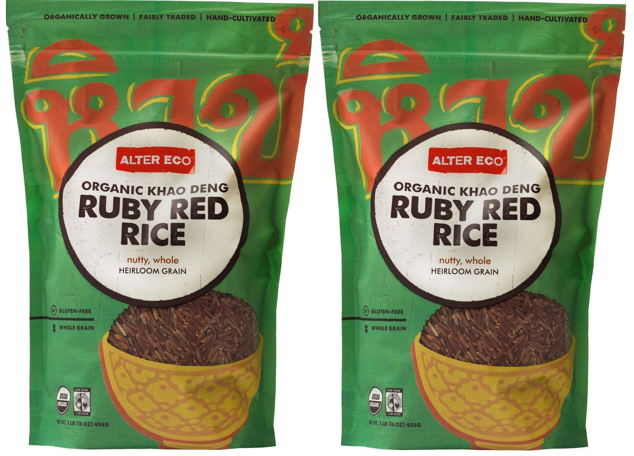Alter Eco, Organic Khao Deng, Ruby Red Rice, 16 oz (454 g) Alter Eco, Organic Khao Deng, Ruby Red Rice, 16 oz (454 g) - 2pcs by Alter Eco