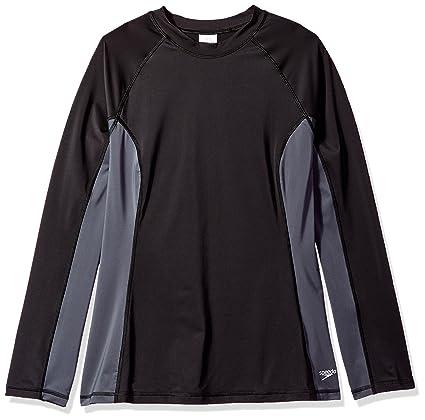 cf0e28ed Amazon.com: Speedo Women's Long Sleeve Rashguard Swim T Shirt (Plus ...