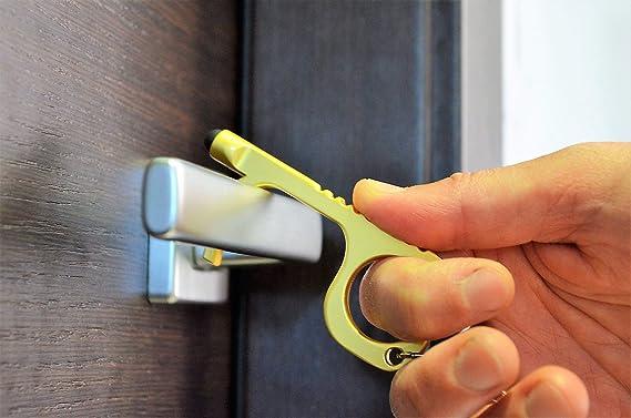 per esterni senza contatto Portachiavi con apribottiglie con tasto touch screen per tenere le mani pulite Splitter jinanshiCathy Oliver