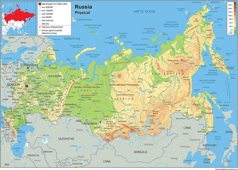 Cartina Russia Geografica
