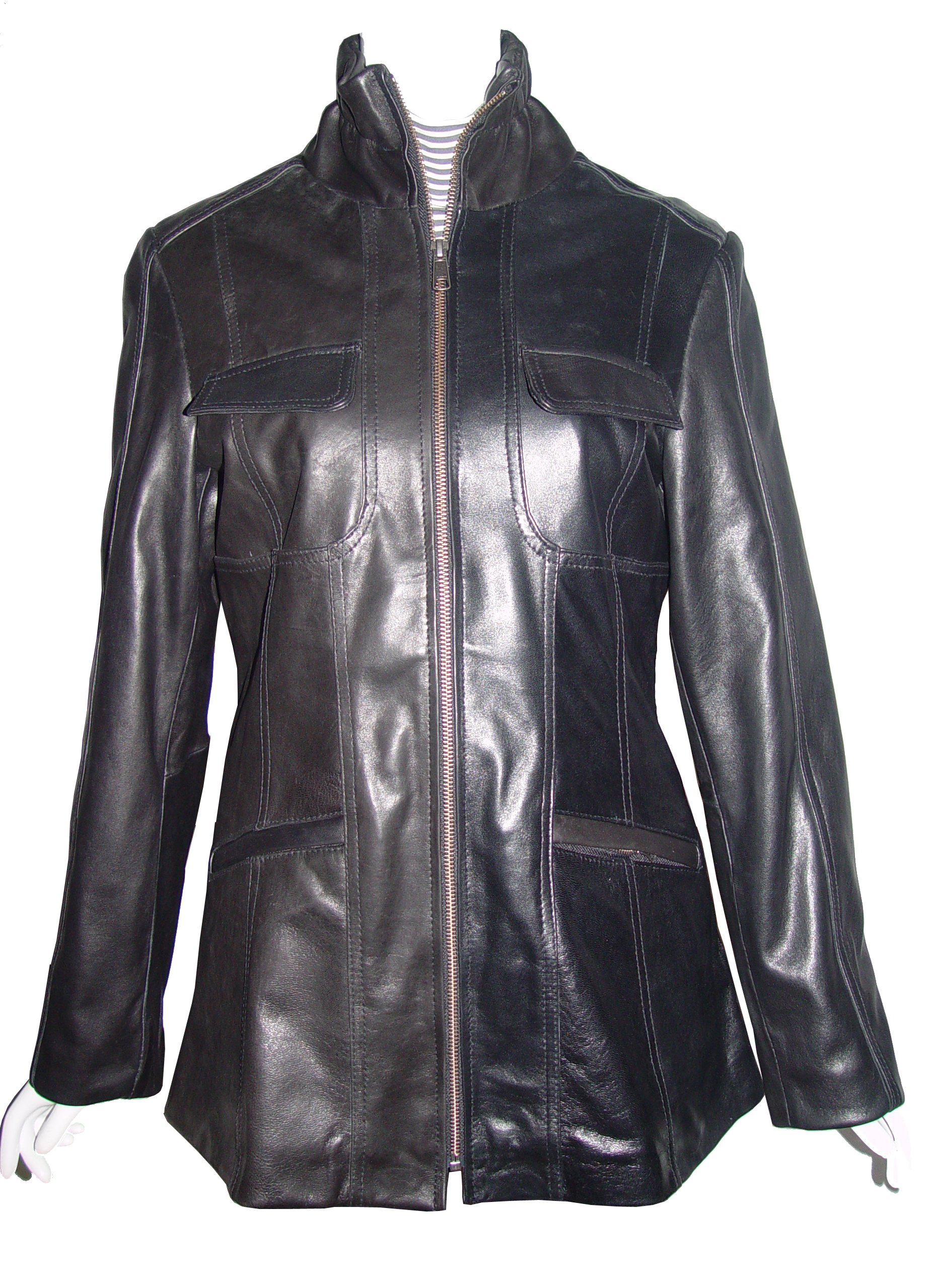 Nettailor Women Larger PLUS & ALL SIZE 4194 Soft Leather Casual Jacket