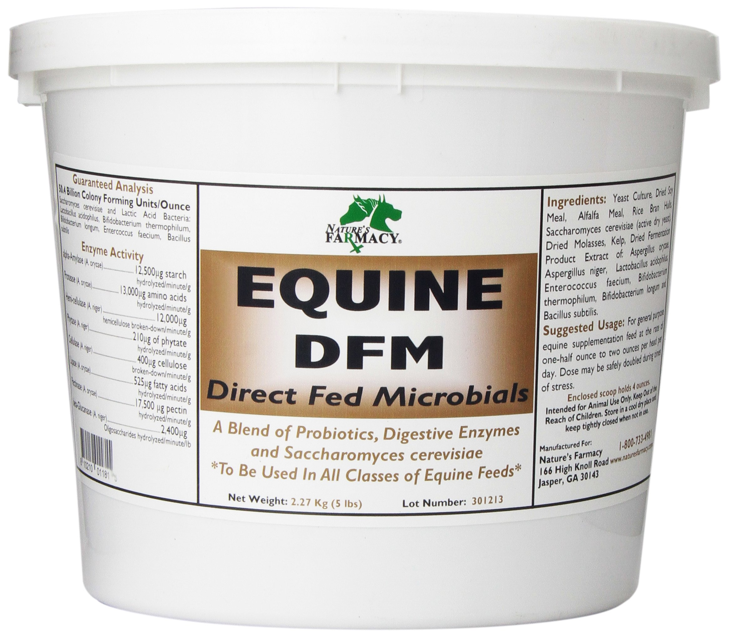 Equine DFM Probitoic and Enzyme Supplement, 5-Pound