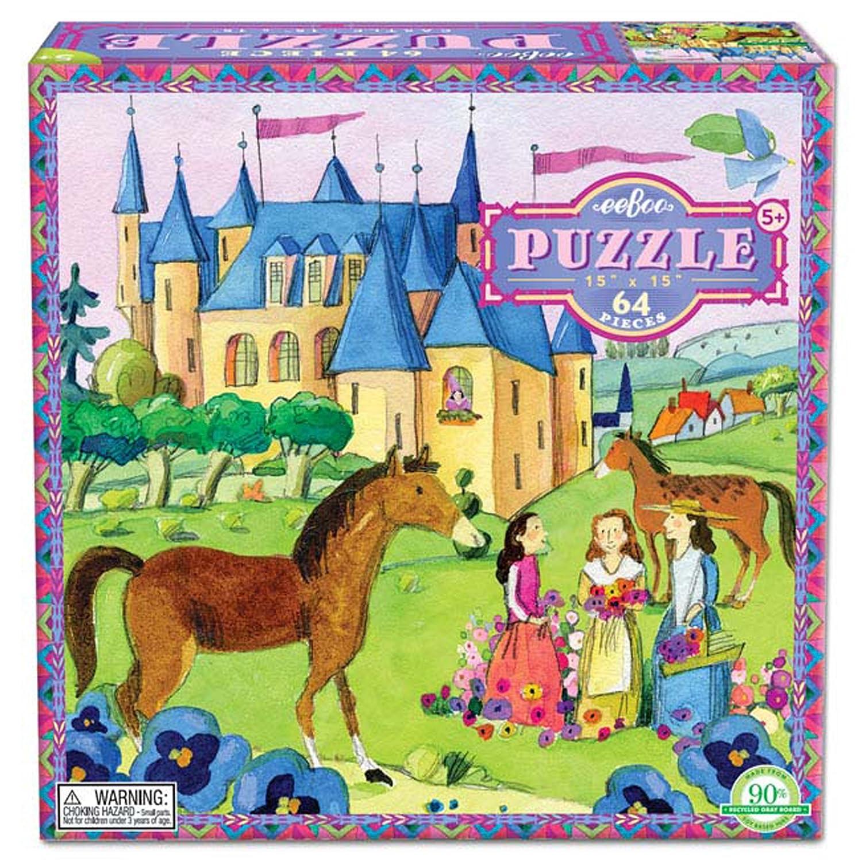 Kinder Puzzle Schloss Pferd 64 Teile ab 5 Jahre Kinderpuzzle Spiel